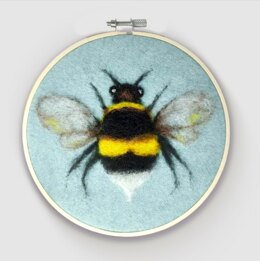 The Crafty Kit Company Bee in a Hoop Needle Felting Kit