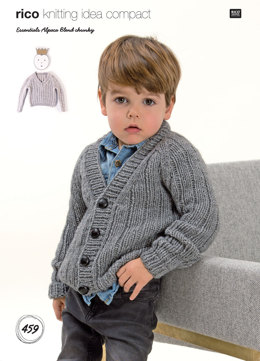 Cardigan and Sweater in Rico Essentials Alpaca Blend Chunky - 459 - Downloadable PDF