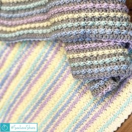 Pastel Striped Baby Blanket