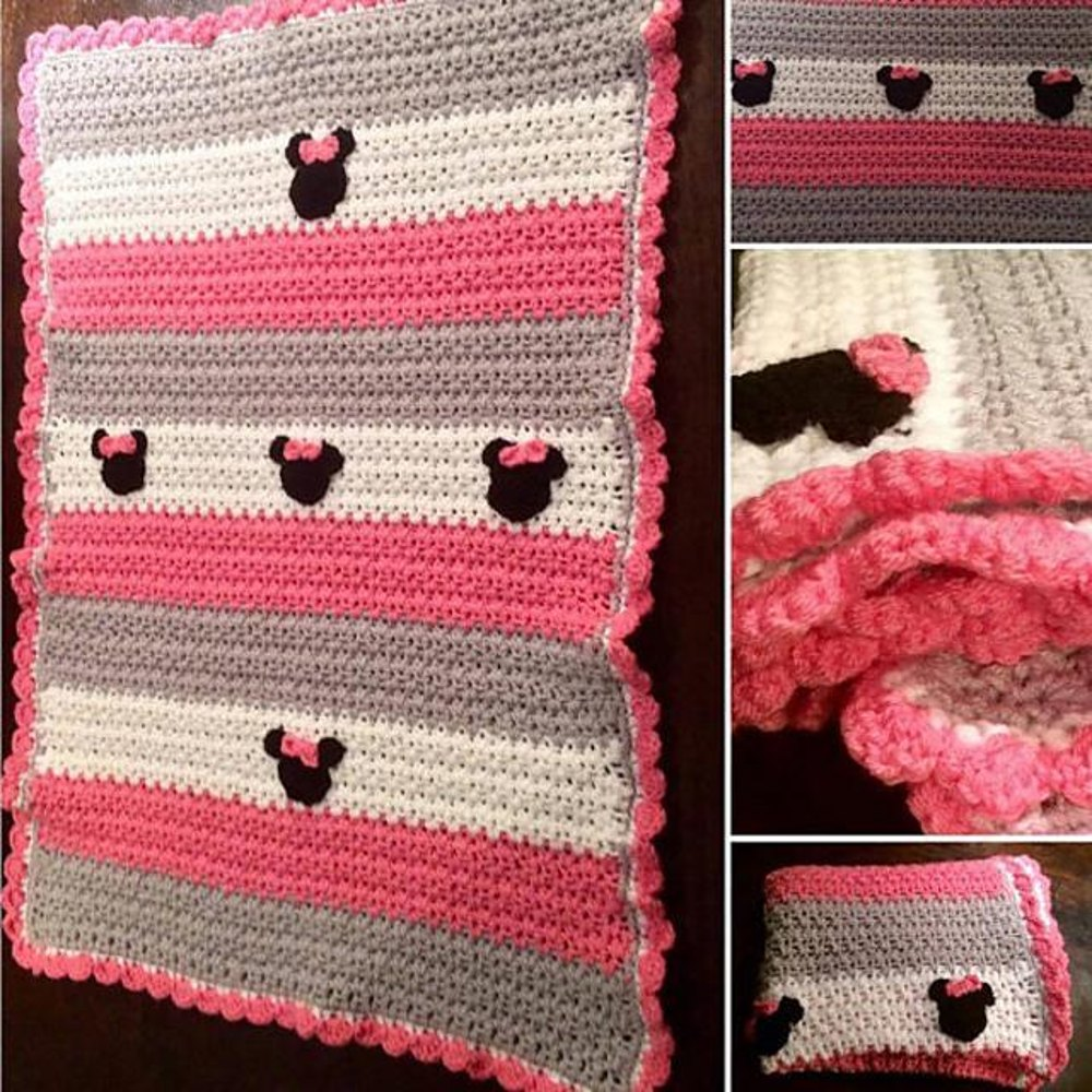Chunky Minnie Mouse Afghan Crochet Pattern By Flos Crafty Crochet