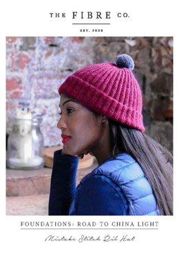 Mistake Stitch Rib Hat in The Fibre Co. Road to China Light - Downloadable PDF