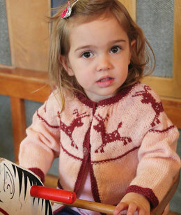 Junior Christmas Cardigan in Susan Crawford Excelana 4 Ply