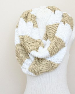 A01 Striped Infinity Scarf