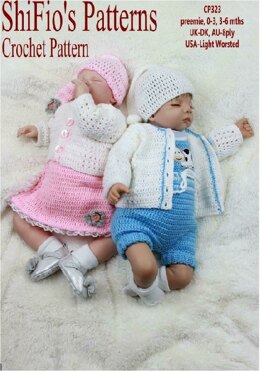 Crochet Pattern girls set & boys set UK & USA Terms #323