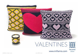 """""""Valentine Cushions and Candle Warmer"""" - Cushion Knitting Pattern For Home in MillaMia Naturally Soft Merino"""