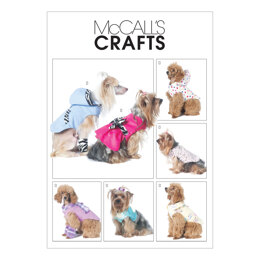 McCall's Pet Clothes M6218 - Paper Pattern Size All Sizes In One Envelope