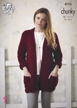Jacket & Waistcoat in King Cole Chunky - 4723 - Downloadable PDF