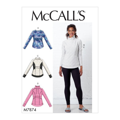 McCall's Misses' Tops and Leggings M7874 - Sewing Pattern