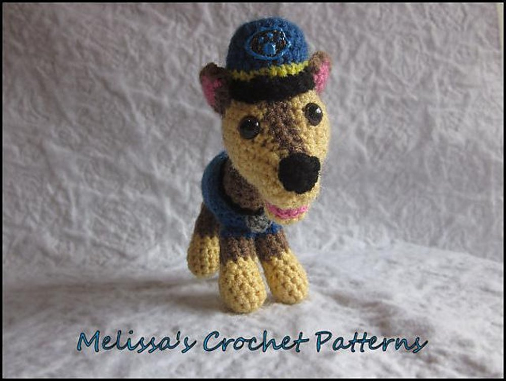 Chase From Paw Patrol Crochet Pattern By Melissas Crochet Patterns