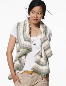 Radiant Ripple Vest in Patons Silk Bamboo