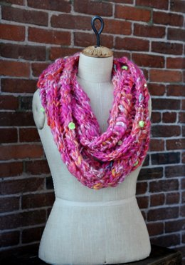 Ladder Stitch Cowl in Knit Collage Gypsy Garden