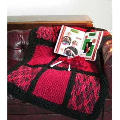 9 Cousins Lapghan & Memory Book in Lion Brand Wool-Ease Thick & Quick and Jiffy - BK4K-0510002