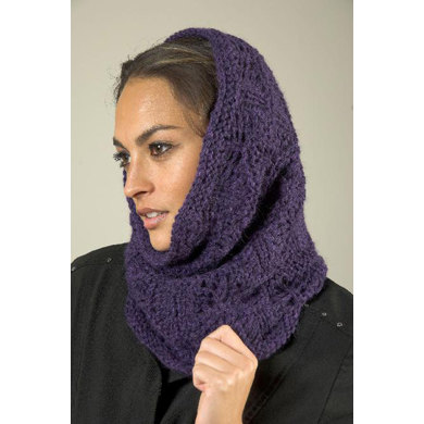 Wave Lace Snood-Cowl in Plymouth Baby Alpaca Aire - F528