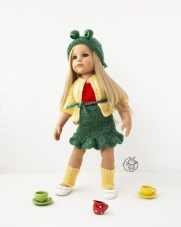 Outfit Frogling for doll 18in