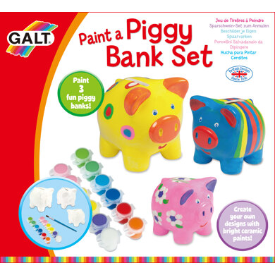 Galt Toys Paint a Piggy Bank Set - 23.3 x 25.5 x 9cm