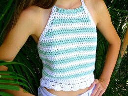 Crochet Striped Halter Top