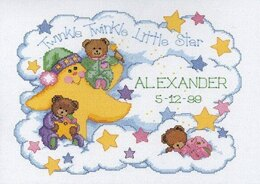 Dimensions Twinkle Twinkle Birth Record Cross Stitch Kit - 36cm x 25cm