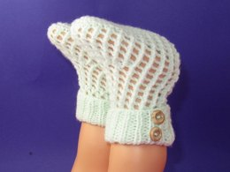 Easy Baby 2 Button Lacey Booties