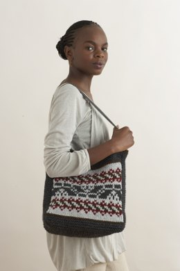 Fair Isle Tote in Lion Brand Wool-Ease Chunky - 70435AD