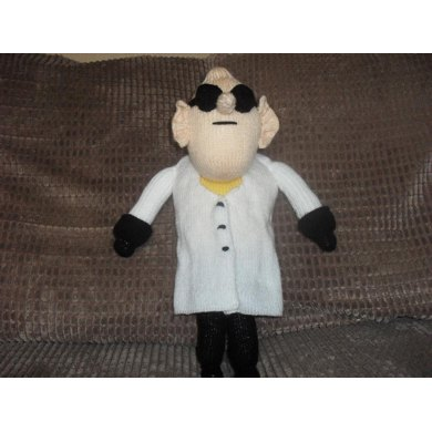 Professor Nefario Despicable Me Knitting Pattern By Madknit