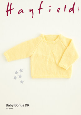 Star Sweater in Hayfield Baby Bonus DK - THBDK5425 - Downloadable PDF