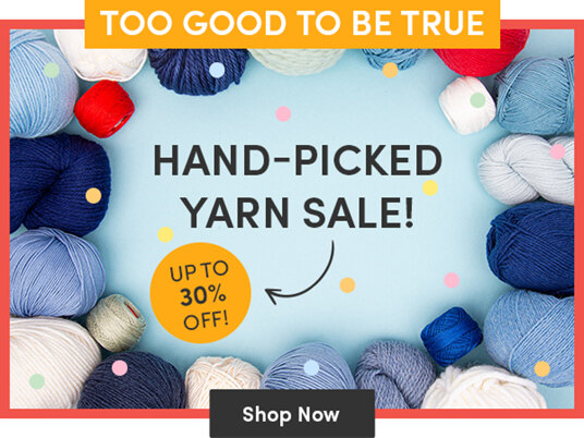 Hand-picked yarn sale: up to 30 percent off!
