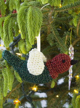 Crocheted Chirper Ornament in Red Heart US - WR1886 - Downloadable PDF