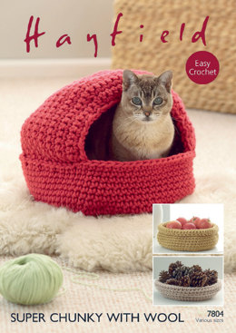 Baskets in Hayfield Super Chunky With Wool - 7804- Downloadable PDF