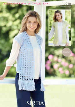 Waistcoats in Sirdar  Country Style DK - 7218