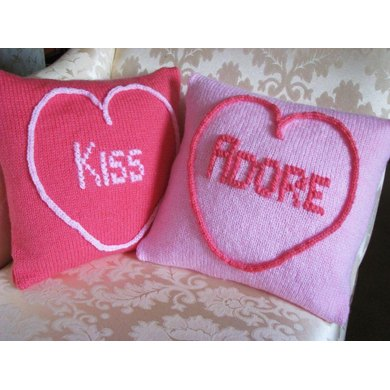 Love Heart Cushions (Kiss & Adore)