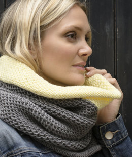 Bia Roll Edge Snood in MillaMia Naturally Soft Aran