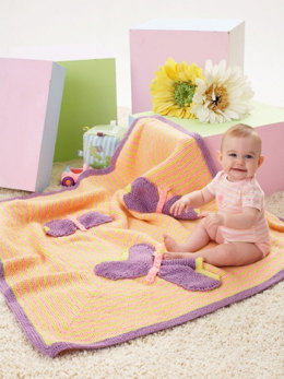 Butterfly Blanket in Caron One Pound - Downloadable PDF