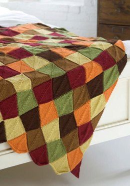 Falling Leaves Afghan in Red Heart Soft Solids - WTV1602