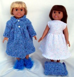 Nighttime Casual, Knitting Patterns fit American Girl and other 18-Inch Dolls