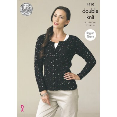 Cardigans in King Cole DK - 4410 - Downloadable PDF