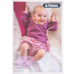 Baby Wrap Cardigan in Patons Cotton Bamboo - Leaflet