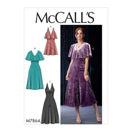 McCall's Misses'/Miss Petite Dresses and Jumpsuits M7864 - Sewing Pattern