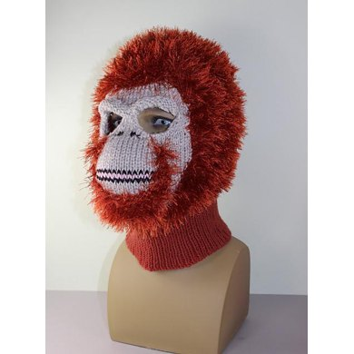 Toddlerchild And Adult Orangutan Mask Balaclava Knitting Pattern By
