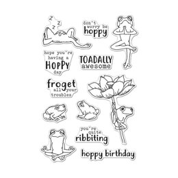 """Hero Arts Clear Stamps 4""""X6"""" - Hoppy Day"""