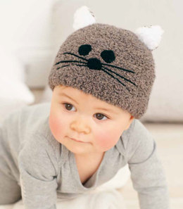 Children's Hat in Rico Baby Teddy Aran and Essentials Merino DK- 202
