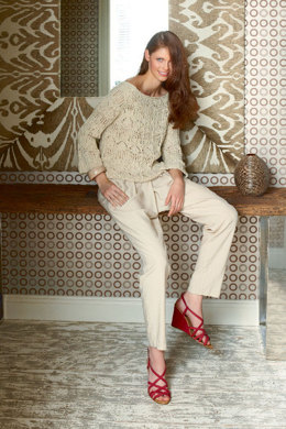 Ladies' Lace Sweater in Schachenmayr Favorito - S8088A - Downloadable PDF