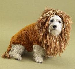 King of the Beasts (Lion Brand) Dog Sweater Lion Brand Wool-Ease Thick & Quick and Homespun - 60475