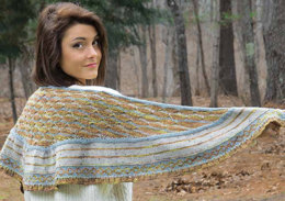 Birds in Flight Shawl in Knit One Crochet Too Kettle Tweed - 2330