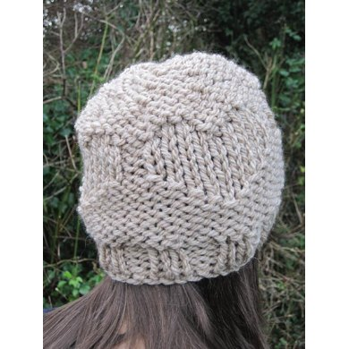 Textured Hearts Hat