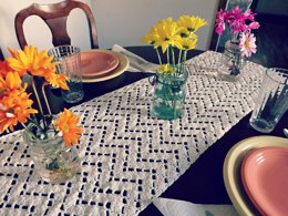 Vintage Chevron Table Runner