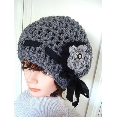 519 CROCHET BEANIE CLOCHE, age 5 to adult