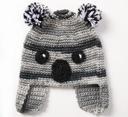 Koala-Ty Hat in Caron Simply Soft and Simply Soft Ombre - Downloadable PDF