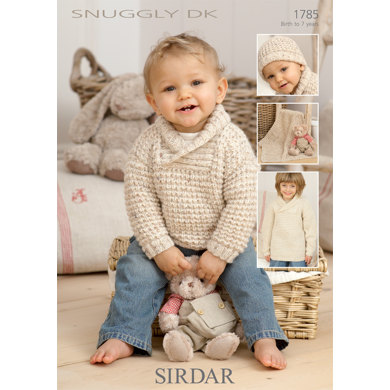 Sirdar Knitting Pattern Abbreviations : Sweater, Hat and Blanket in Sirdar Snuggly DK - 1785 - Downloadable PDF