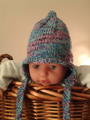 Chunky Elf / Pixie Hat Earflaps 0- 3months