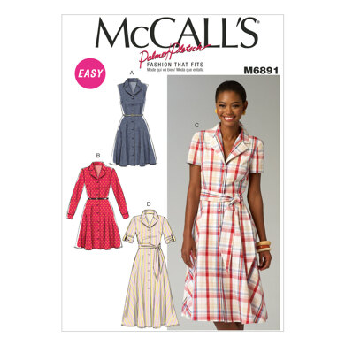 McCall's Misses' Dresses and Sash M6891 - Sewing Pattern